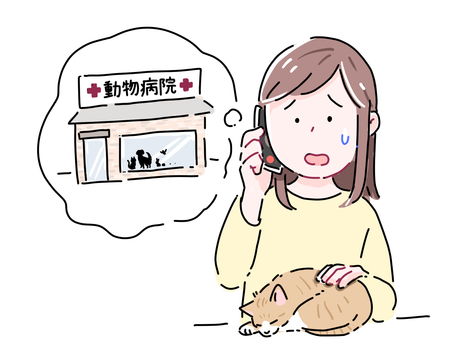 Woman 1 calling a veterinary clinic