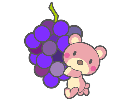 A bear running with grapes