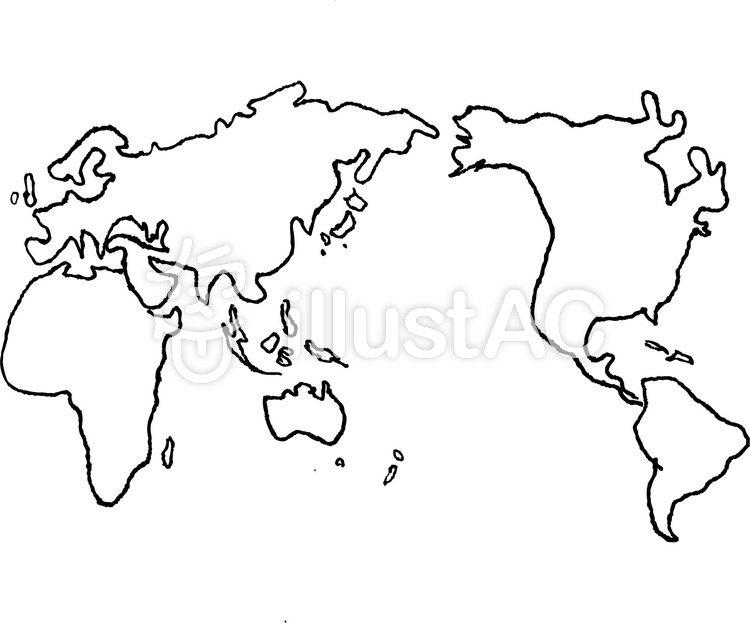 世界地図イラスト No 690583無料イラストならイラストac