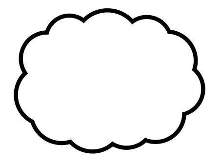 雲形吹き出し(くちばしなし)