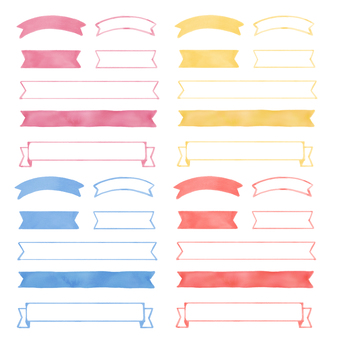 Watercolor ribbon material