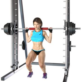 Barbell squat 04