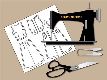 Sewing machine and paper pattern