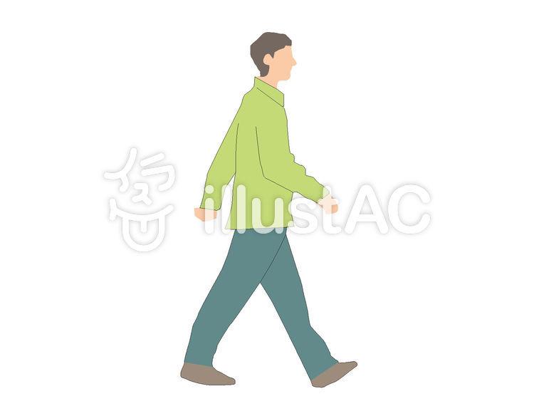 歩く男性 横向きイラスト No 1000131無料イラストならイラストac