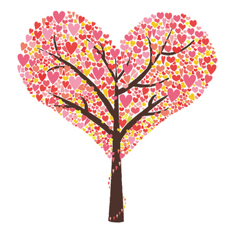 Hearted tree pink version