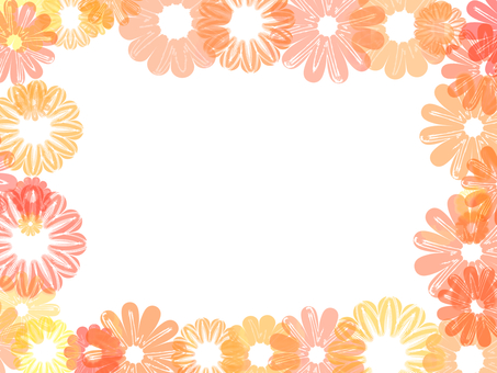 꽃의 프레임 (오렌지)