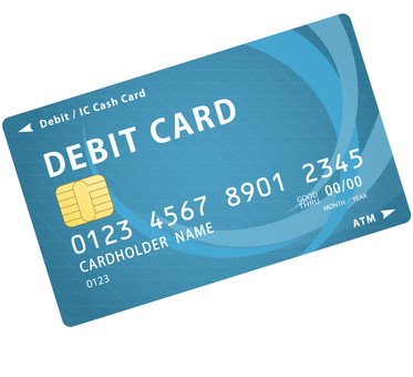 Debit card with IC