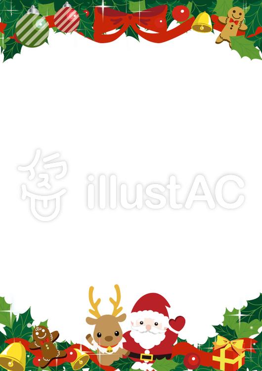 クリスマスカード縦イラスト No 961093 無料イラストなら