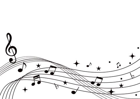 音符 黒 フレーム