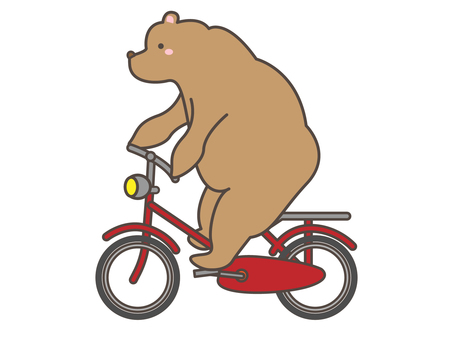 Bear riding a bicycle