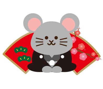 부채와 쥐 (기모노)