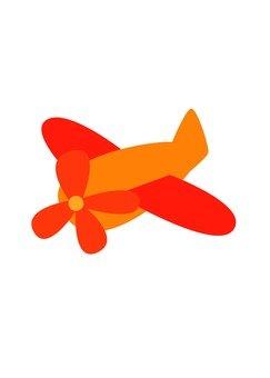 비행기 (오렌지)