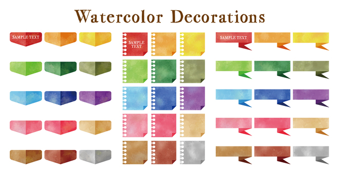 Watercolor touch decoration