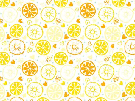 Graffiti-style lemon · pine pattern