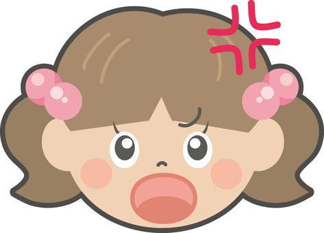 Girl facial expression