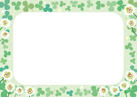 Clover, frame of white clover