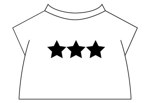 T-shirt three star