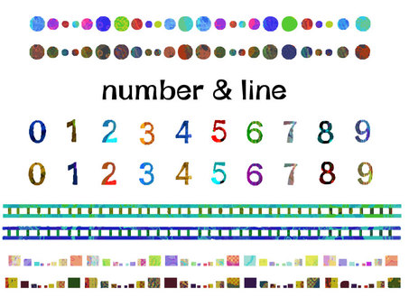 """Colorful"" numbers and lines"