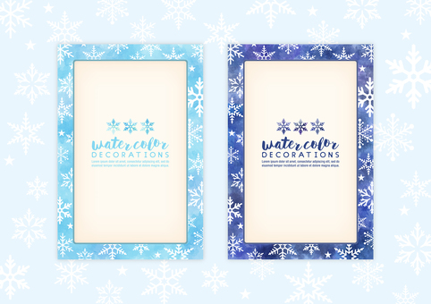 Watercolor touch snowy frame