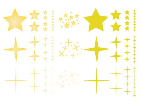 Material of glittering stars