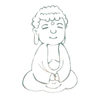 Mr. Yufuwa Buddha (Line drawing)