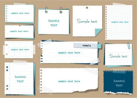 Simple memo pad set 2