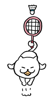 Cat badminton