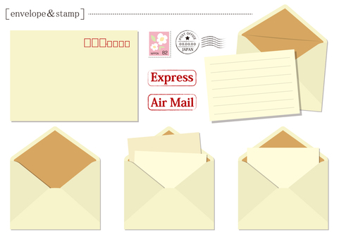Envelope & stamp set