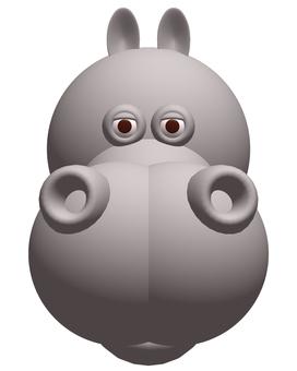 Hippopotamus _ ash