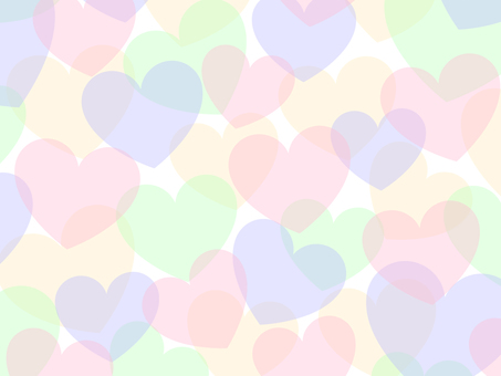 Transparent feeling heart background