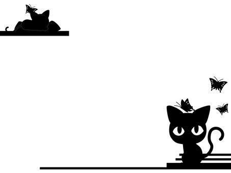 Black cat frame 3