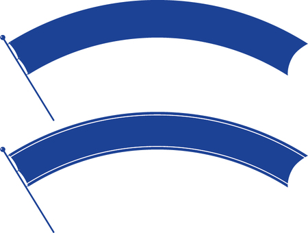 Arch shaped flag (blue)