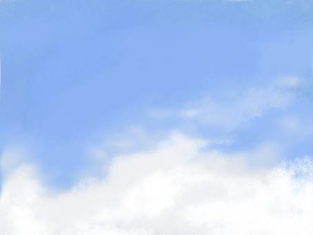 Blue sky background wallpaper sky material material sky