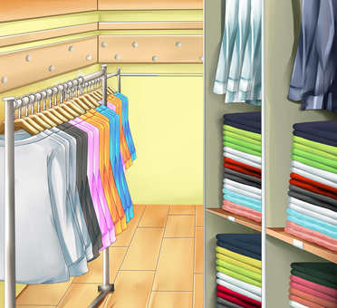 Background Clothes store