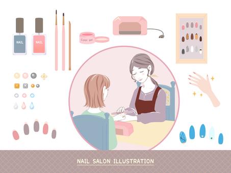 Nail salon illustration