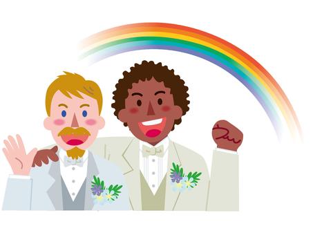 Marriage between men-Rainbow 2