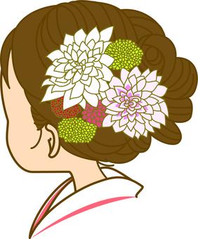 花嫁の花飾り