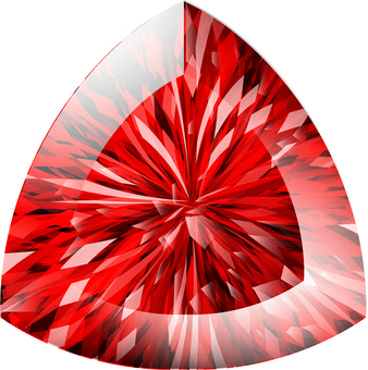 ai triangular cut ruby