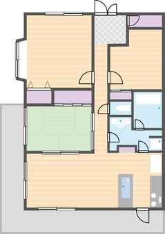 3LDK Floorplan