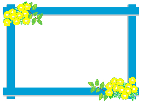 Summer flower frame