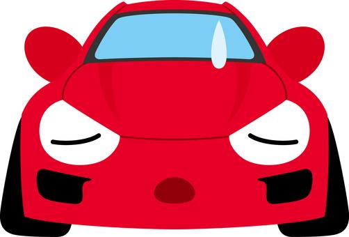 Car sports car sad