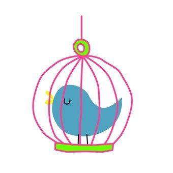 Bird of basket (blue)