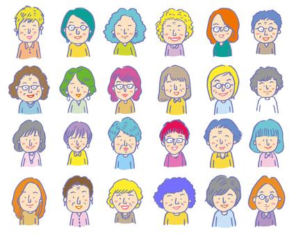 많은 여성