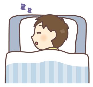 A boy sleeping deeply