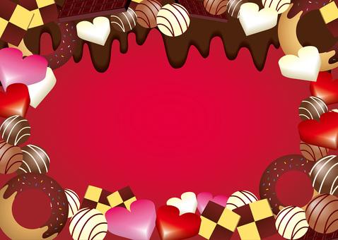 수제 초콜릿 발렌타인적인 프레임