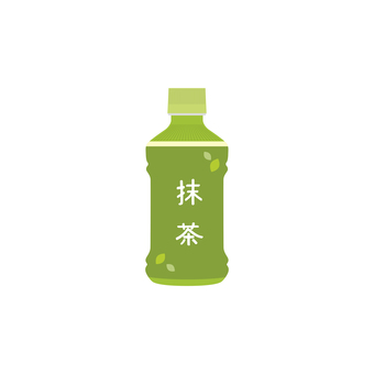 Matcha plastic bottle