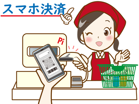 Smartphone payment (cash register)