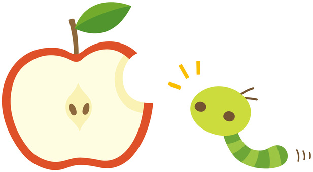 Apple and peach