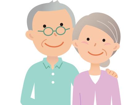 60629. Senior couple, upper body