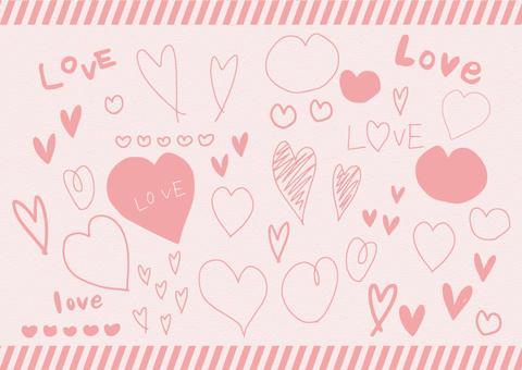 Handwritten heart material